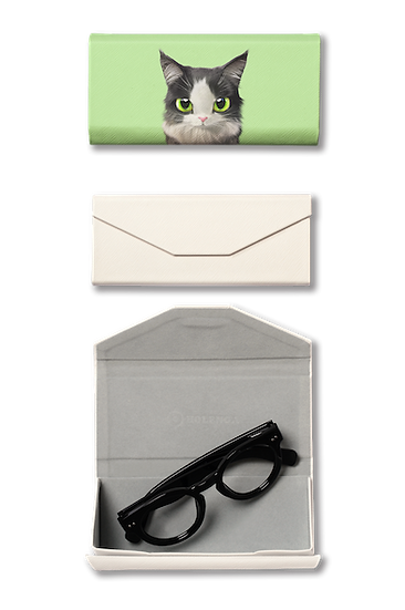 Foldable spectacle case_SugarCat CandyDoggie_Terry the Norwegian Forest cat