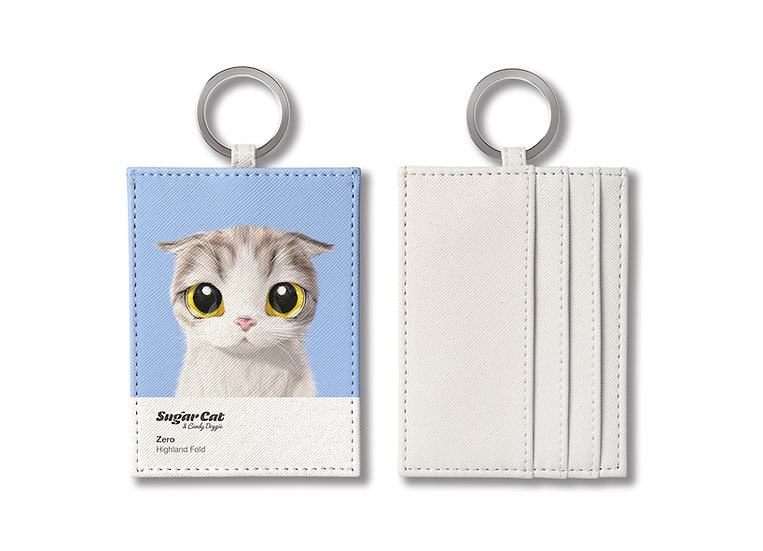 O-ring card holder_SugarCat CandyDoggie_Zero the Highland Fold