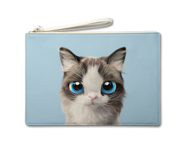 Large Pouch_SugarCat CandyDoggie_Vani the Ragdoll cat