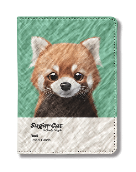 Passport Holder_SugarCat CandyDoggie_Radi the Lesser Panda