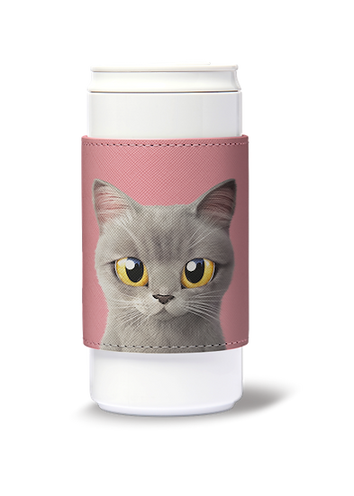 ECO Can Plus 330ml w/ sleeve_SugarCat CandyDoggie_Somi the British shorthair cat