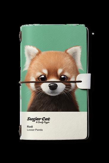 Travelogue notebook_SugarCat CandyDoggie_Radi the Lesser Panda