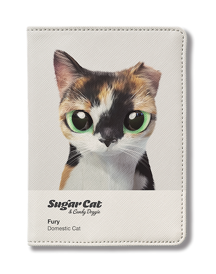 Passport Holder_SugarCat CandyDoggie_Fury the cat