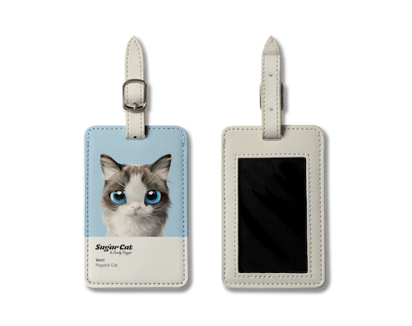 Luggage Tag_SugarCat CandyDoggie_Vani the Ragdoll cat