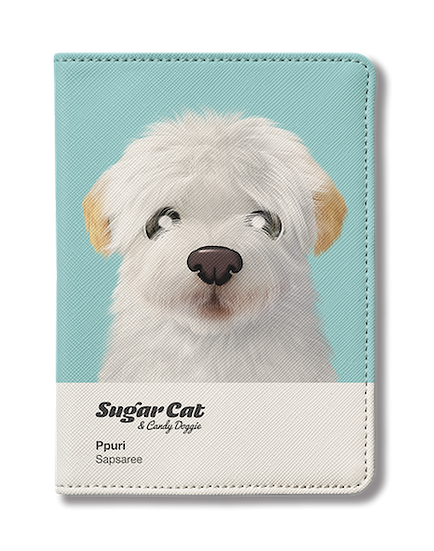 Passport Holder_SugarCat CandyDoggie_Ppuri the Sapsaree
