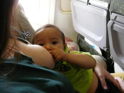 De avião com o bebê