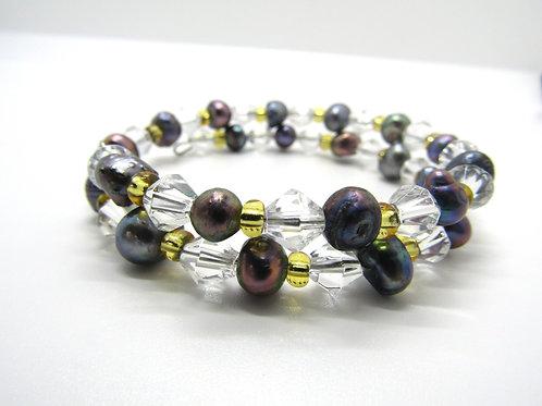 Iridescent Freshwater Pearl Bracelet