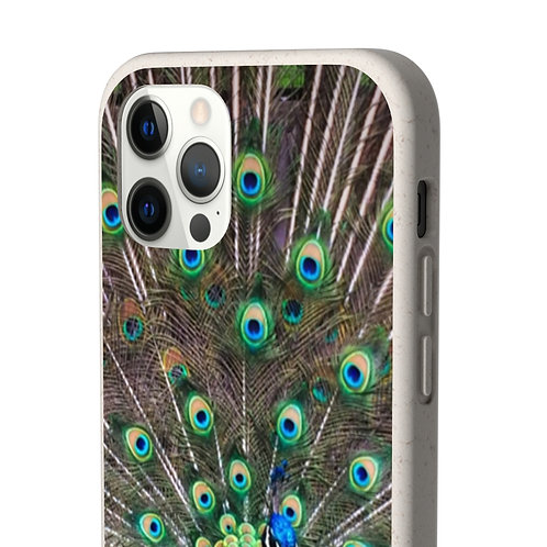 Biodegradable Peacock Phone Case