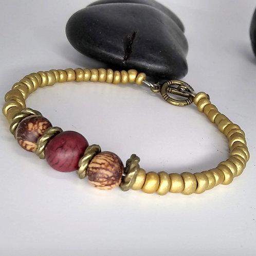 Bronze and Wood Bracelet