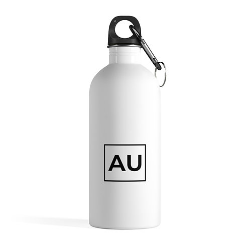 AU Minimalist Stainless Steel Water Bottle- White