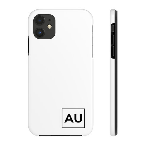 AU Minimalist Case Mate Tough Phone Case- White