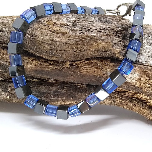 Square Hematite Bracelet