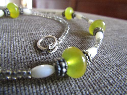 Lemon Quartz Tribal Necklace