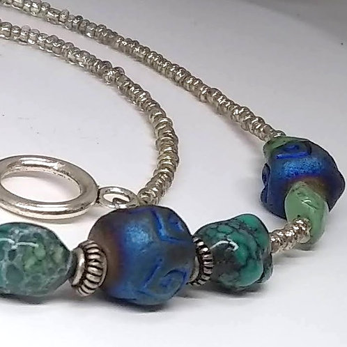 Turquoise & Clay Tribal Necklace