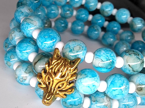 Electric Blue Dragon Bangle
