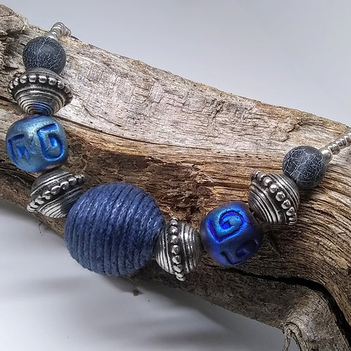 Ethnic Blue Necklace
