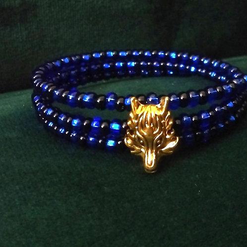 Blue Wolf Bracelet