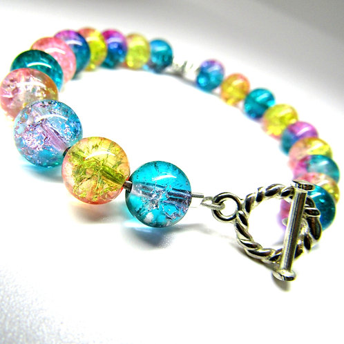 Cotton Candy Bumble Bee Bracelet
