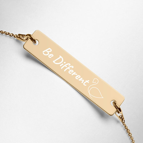 "Engraved Swan ""Be Different"" Bracelet"
