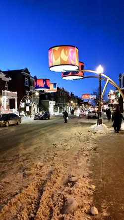 Art en lumière rue Cartier à Québec
