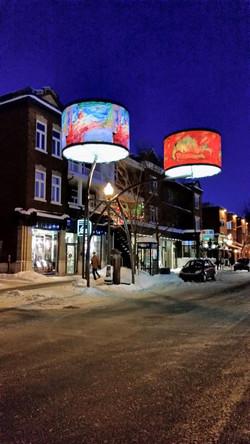 Art en lumière rue Cartier Québec