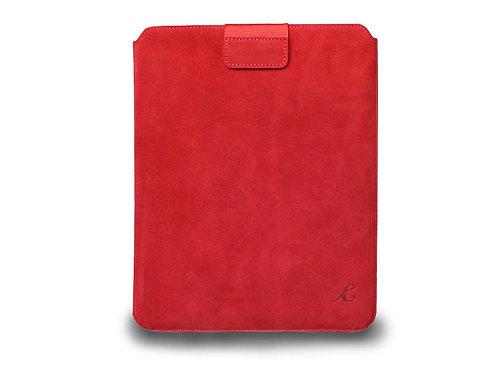 iPad Case Red Nubuck