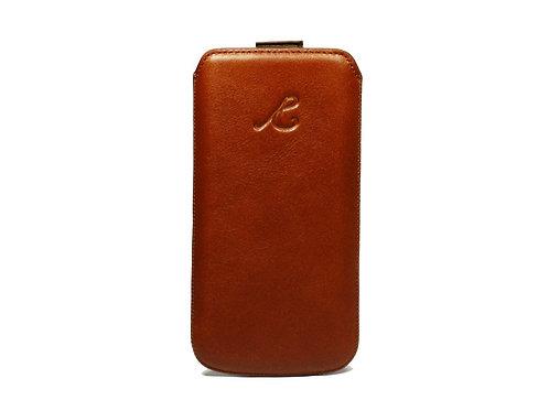 iPhone 7 Case mit Kartenfach, cognac