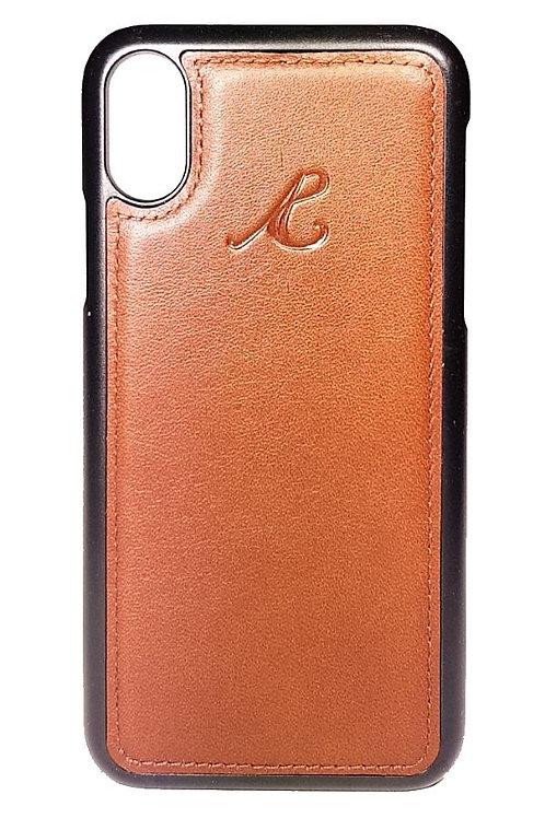 iPhone X Hardcase Cognac