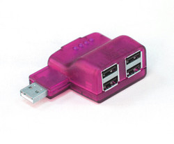 Pink USB Hub
