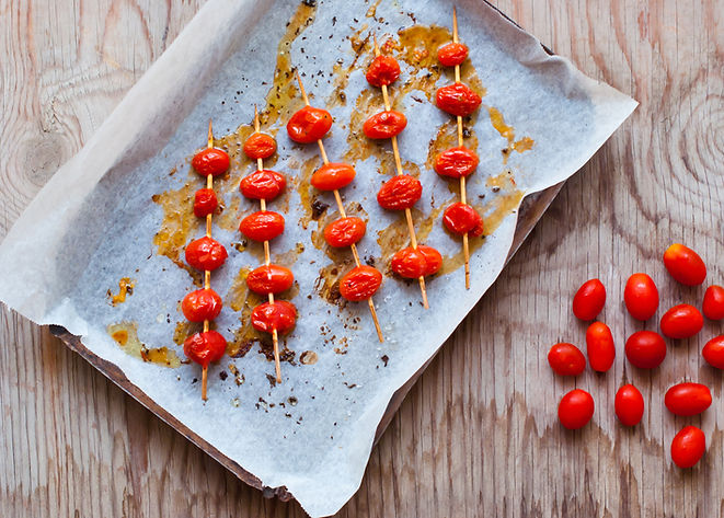 Roasted Cherry Tomato Skewers