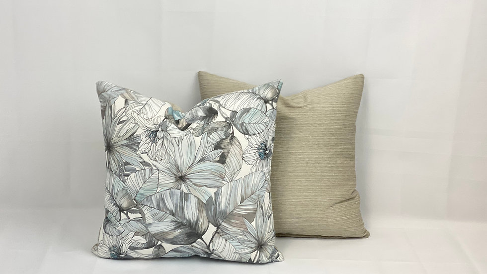 Tropical Flowers Pillow Cover