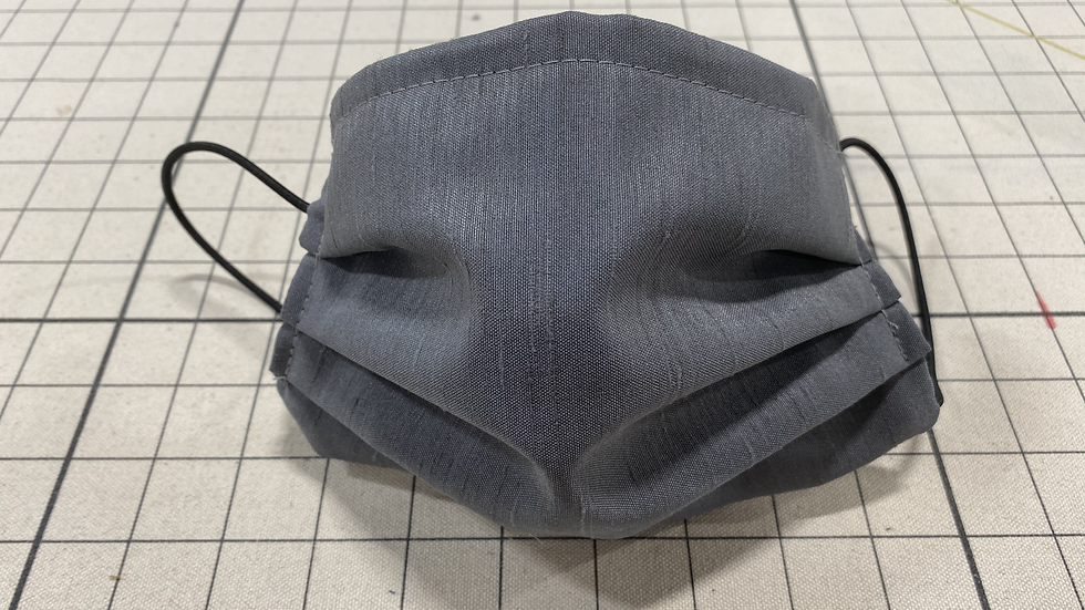 Grey Solid Face Mask