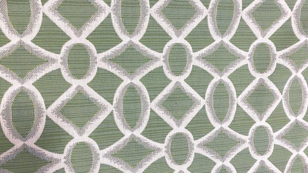 Green Diamonds Pillow Cover