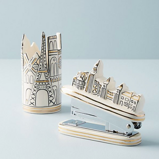 cityscape pencil cup and stapler for Anthropologie