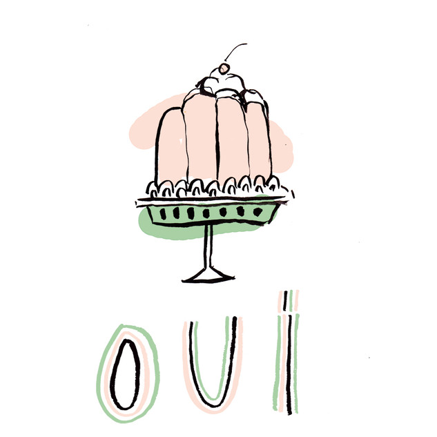 illustration for oui tee | my little belleville