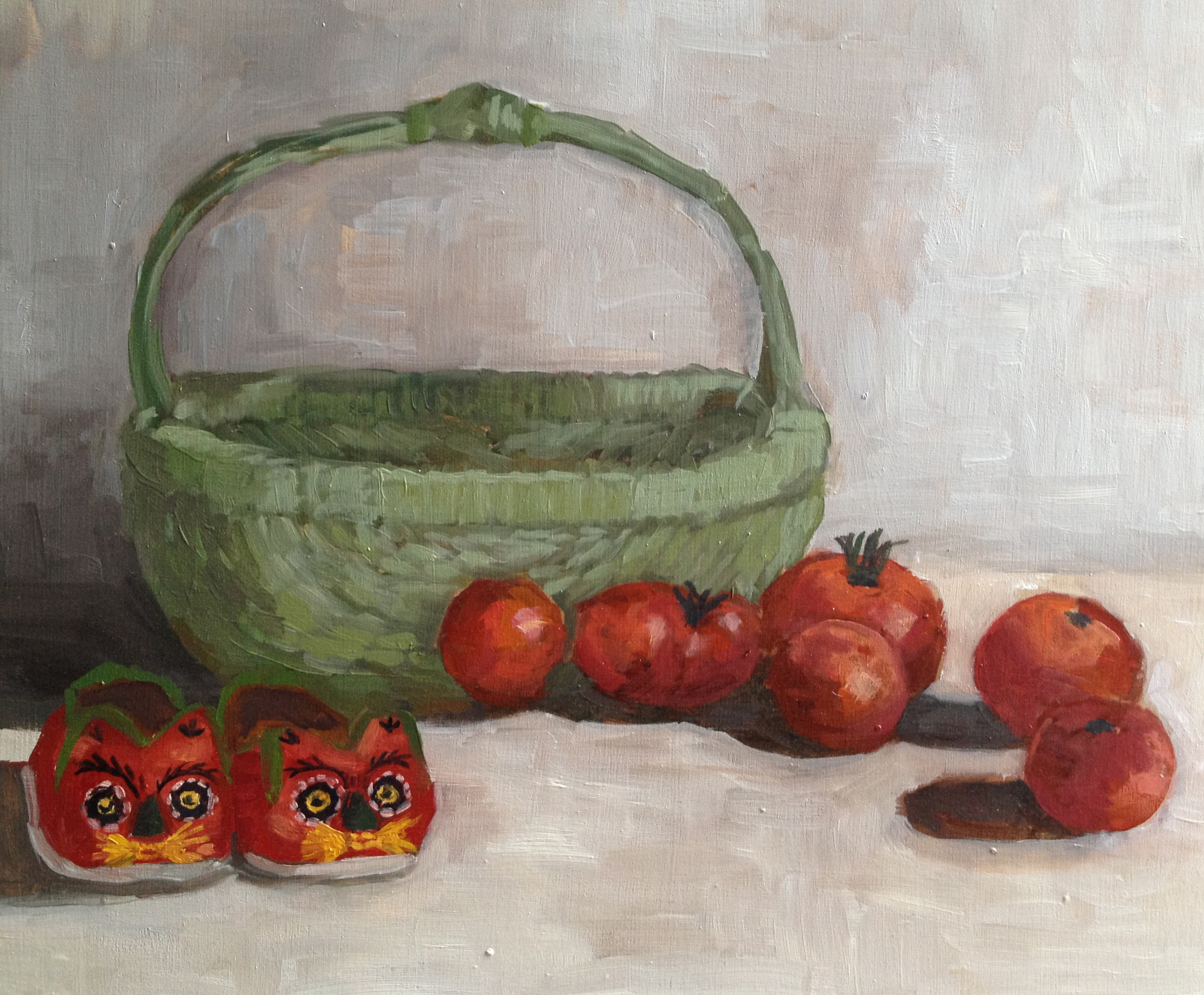 Tomatoes & Chinese Shoe Still-life