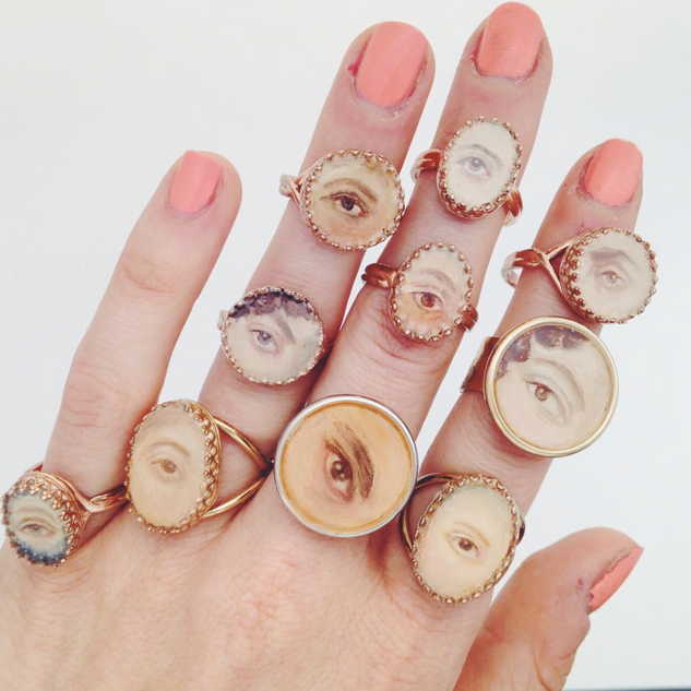 hand painted eye rings