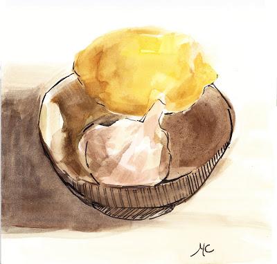 Lemon Garlic in Bowl