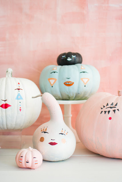 painted pumpkin faces for the House that Lars Built