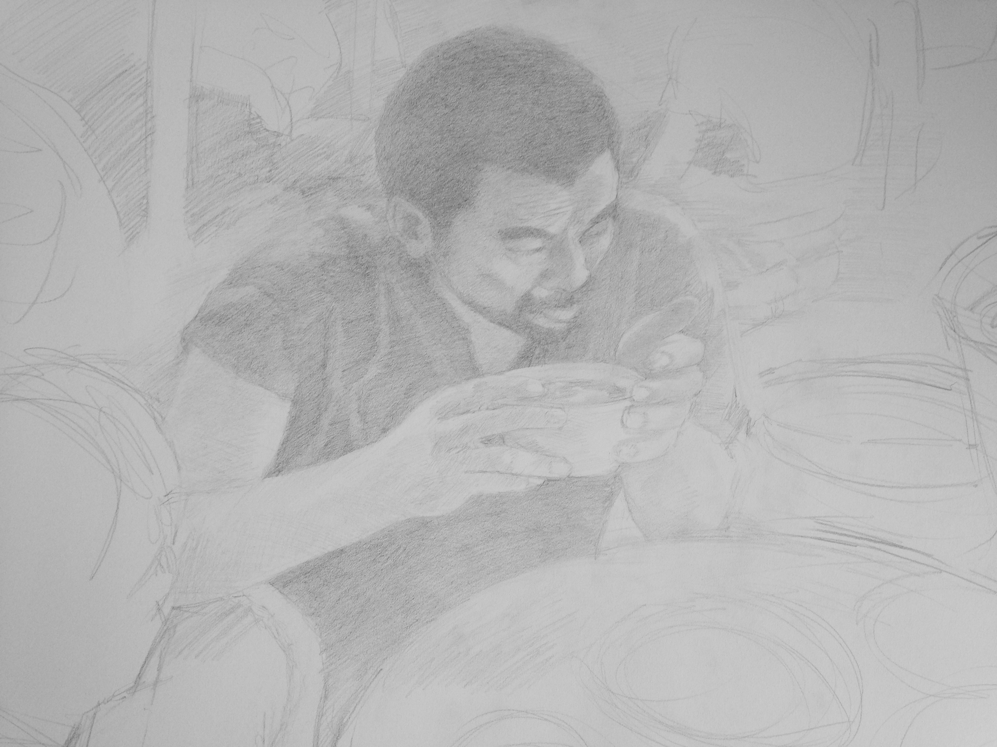 Chinese Man with Soup