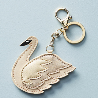 swan keychain for anthropologie