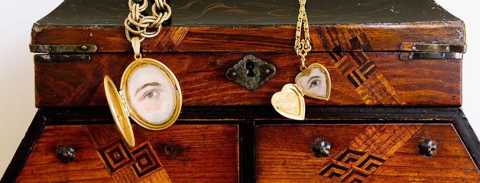 Painted Lover's Eye Locket