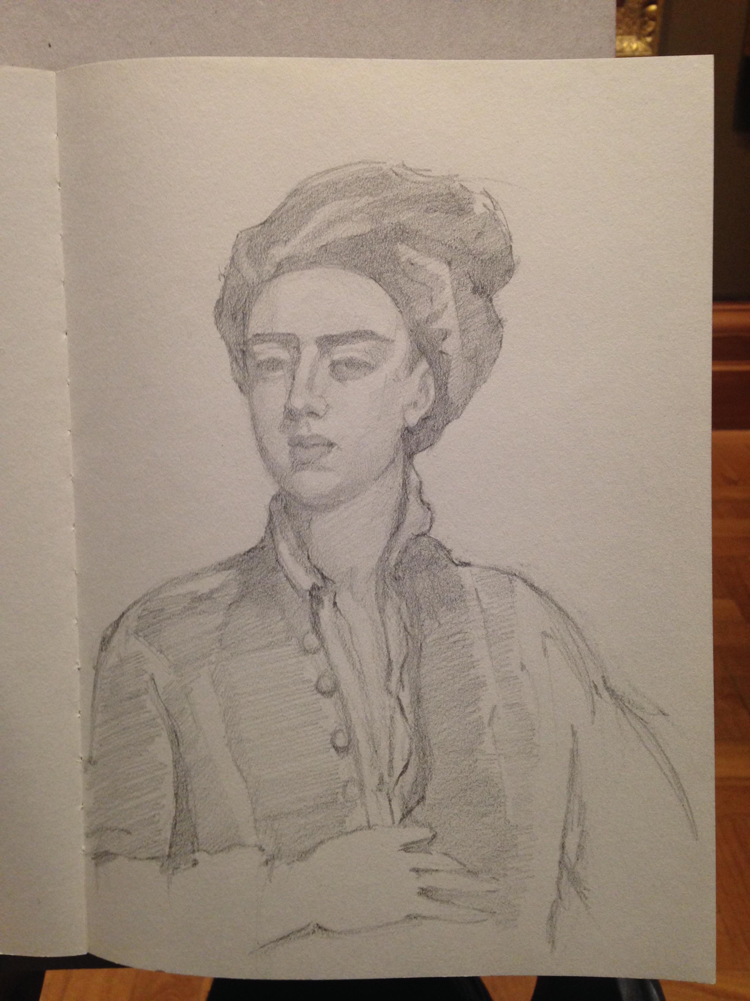 Portrait sketch study