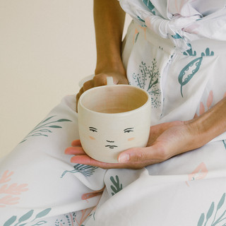 mug collab with betsy croft pottery for SS18