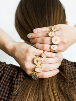 Hand-painted Lover's Eye Rings