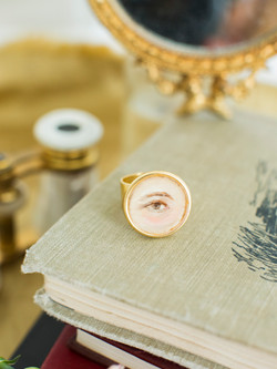 Hand-painted Lover's Eye Ring