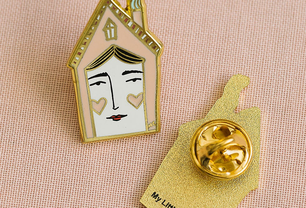House Enamel Pin