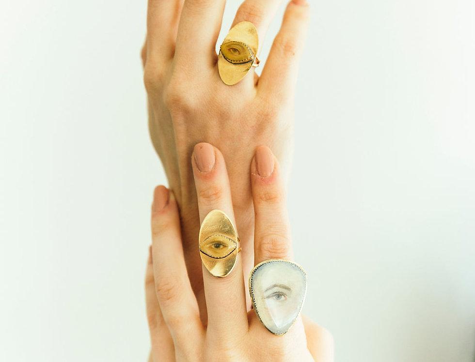 Custom Painted Lover's Eye Ring