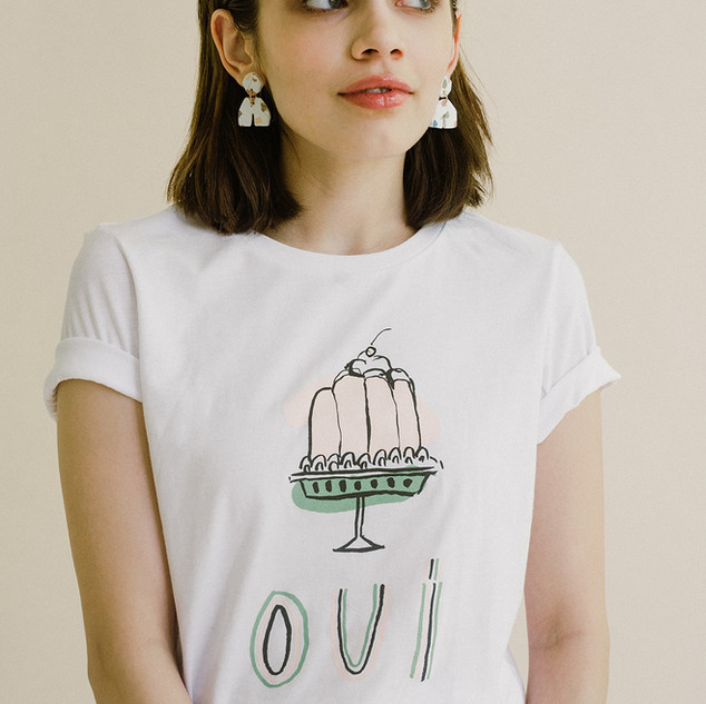 Oui Tee for My Little Belleville