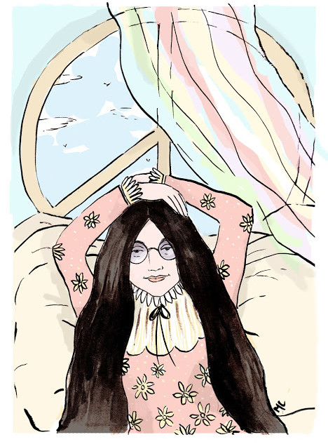 yoko ono illustration for Good Night Stories for Rebel Girls